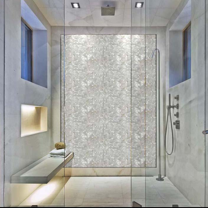 shell shower wall stickers ST078-4 - Mother Of Pearl Tile Backsplash Seamless Pearl Tile With Base ST078