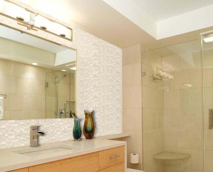 Mother of pearl tile white pearl shell tiles seamless seashell ST076