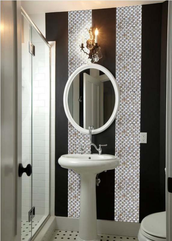 Ellipse Seashell Tile Kitchen Backsplash Bathroom Wall Tiles St067