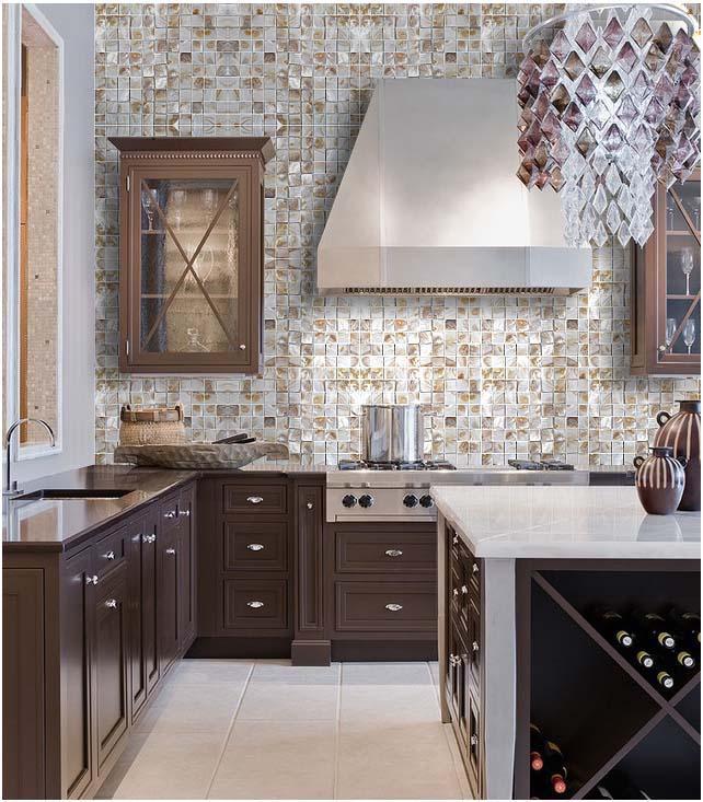 Kitchen Backsplash Shell Mosaic ST066 S1