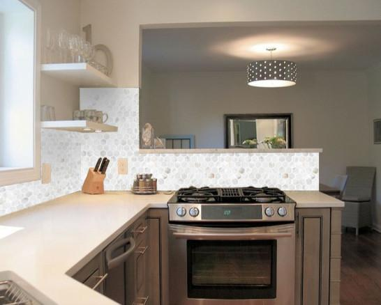 Kitchen Backsplash Mosaic Shell Tile ST064 S4
