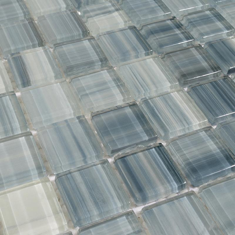 Hand Painted Glass Mosaic Tiles ZZ001 1