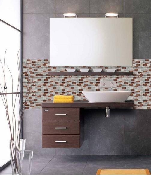 Glass Mosaic Tile Backsplash Kitchens ZZ008 S1 Part 44