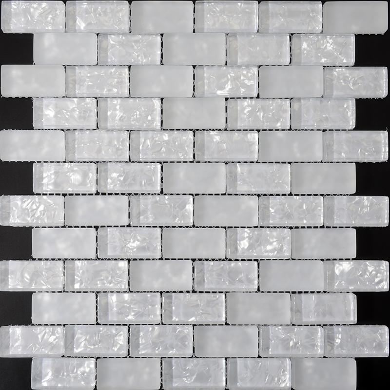 ice crack crystal glass subway tile zz0152