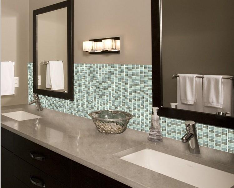 glass tile backsplash bathroom mirror wall tiles ZZ017-S1