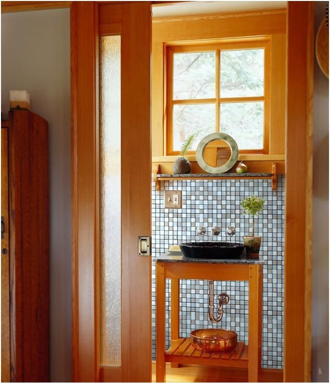 Glass Tile Bathroom Mirror Wall Backsplash ZZ018 S1