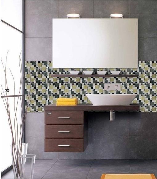 Glass Mosaic Tile Bathroom Backsplash ZZ020 S1