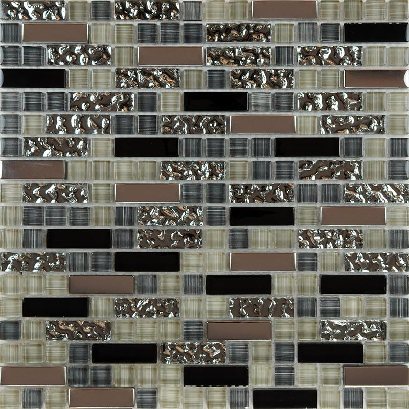 Kitchen Tiles Design Malaysia glass mosaic tile backsplash kitchen metal coating tile designs mg004