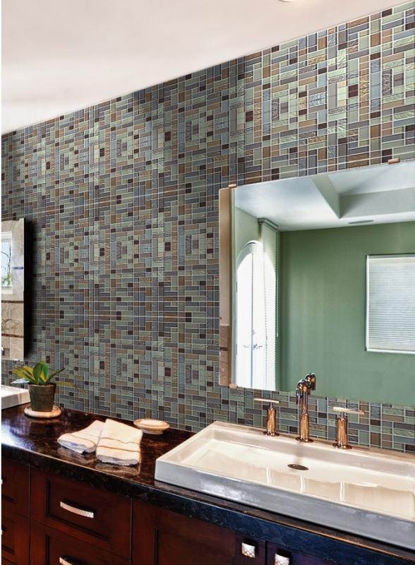 Glass Tile Stainless Steel Mirror Wall Tiles MG005 S1