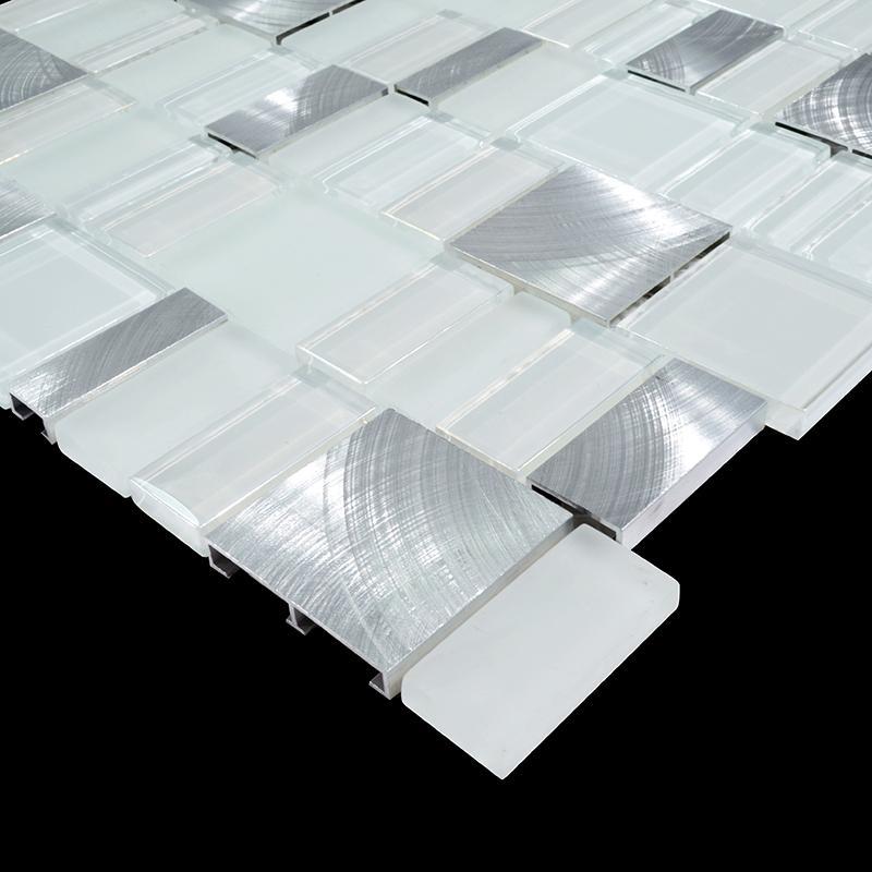 Glass Tile Blend Metal Mosaic Tiles Mg007 3