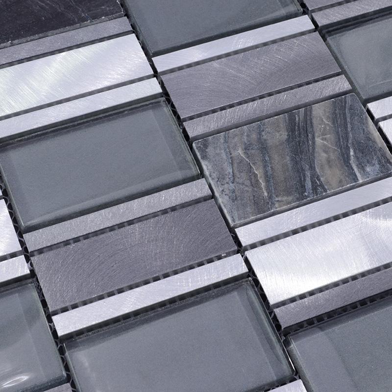 Metal Floor Tiles Metal Stone Mosaic Tile