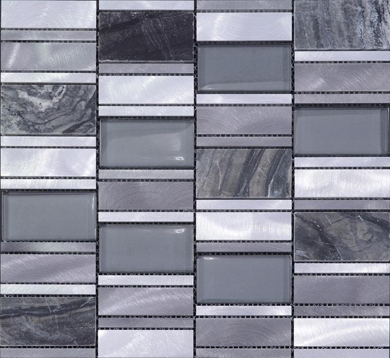 Metal Floor Tiles Metallic Tile Blend Stone