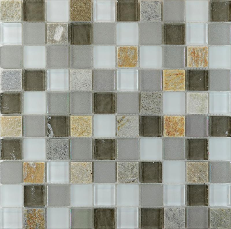 Stone And Glass Blend Mosaic Wall Tiles Marble Floor Tile Sg120