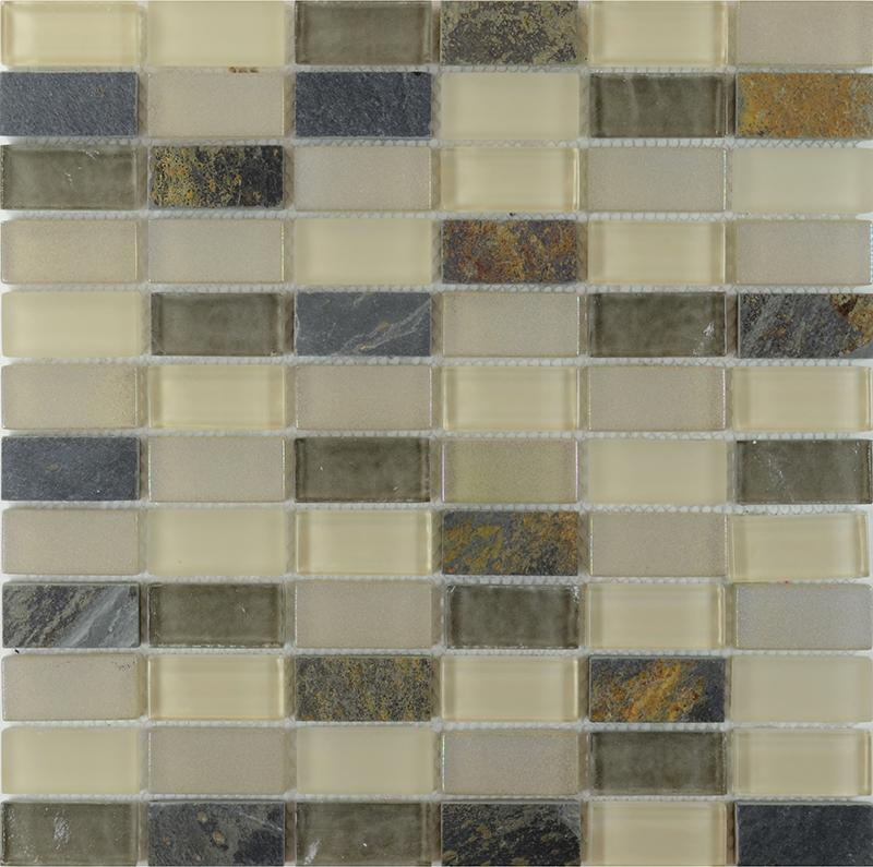 stone & glass blend mosaic wall tiles marble tile flooring sg122