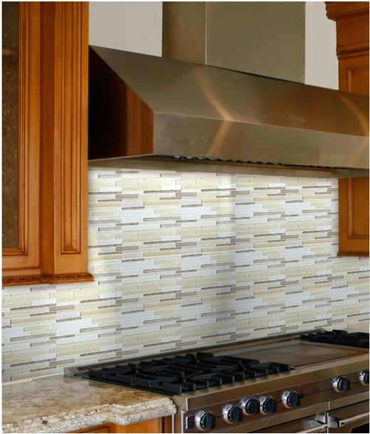 Stone Glass Tile Kitchen Backsplash SG124 S1