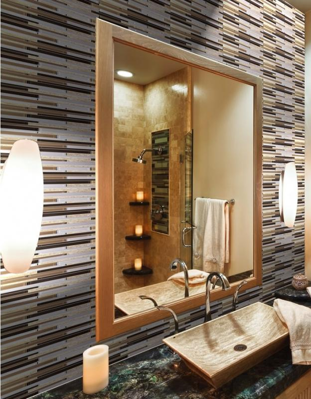 Natural Stone Glass Mosaic Tiles For Bathroom And Kitchen