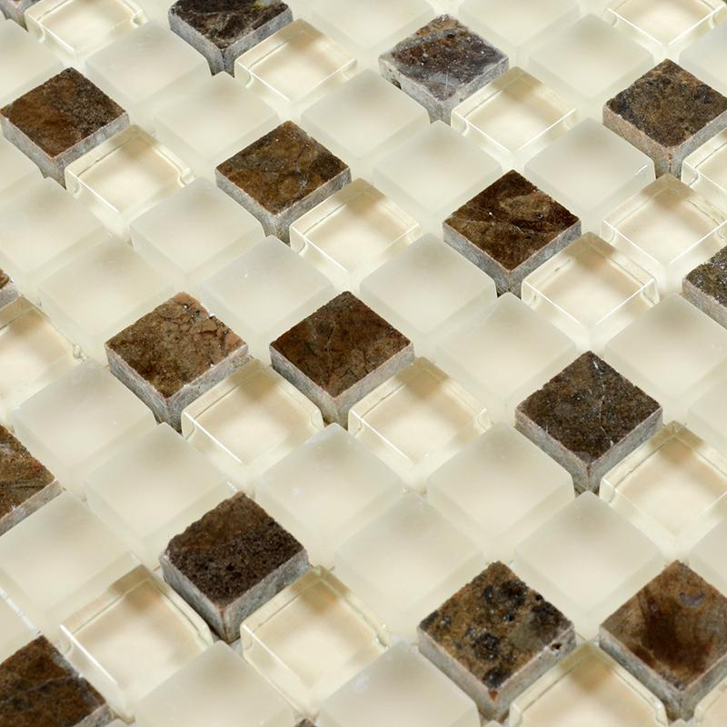 Stone Glass Mosaic Tile Backsplash Sg132 1
