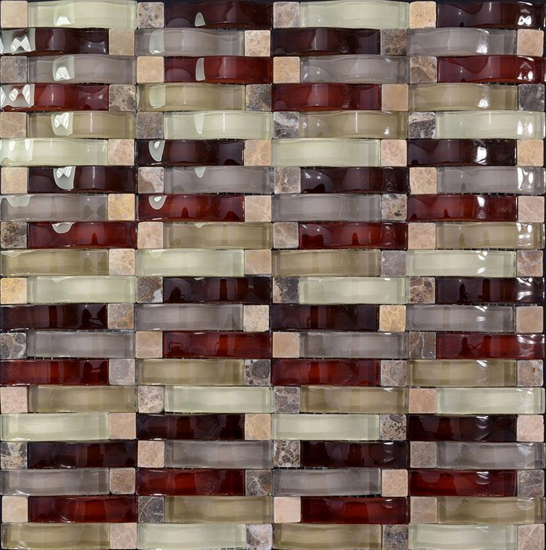 crystal glass backsplash wall tiles interlocking stone tile SG135