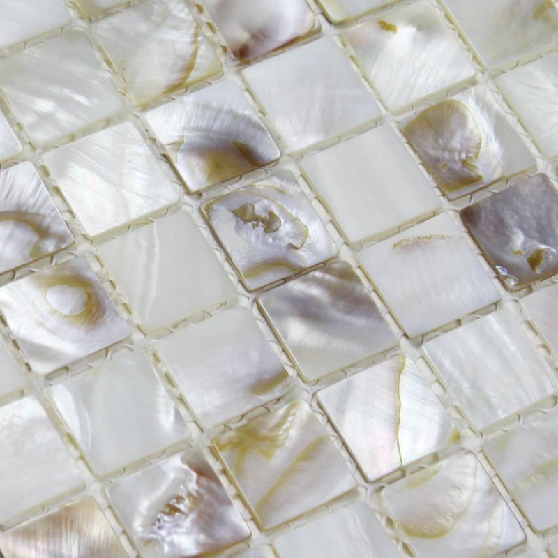 Seashell Backsplash Tile: Mother Of Pearl Mosaic Tiles Pearl Shell Tile Backsplash