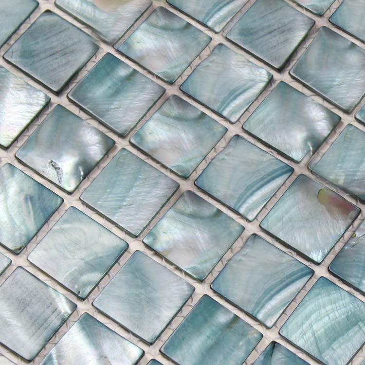 Mother Of Pearl Tile Backsplash Kitchen Painted Sea Shell