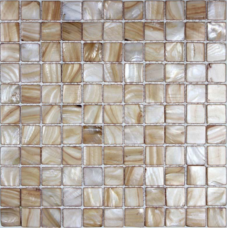 mother of pearl tile backsplash kitchen painted shell mosaic BK014