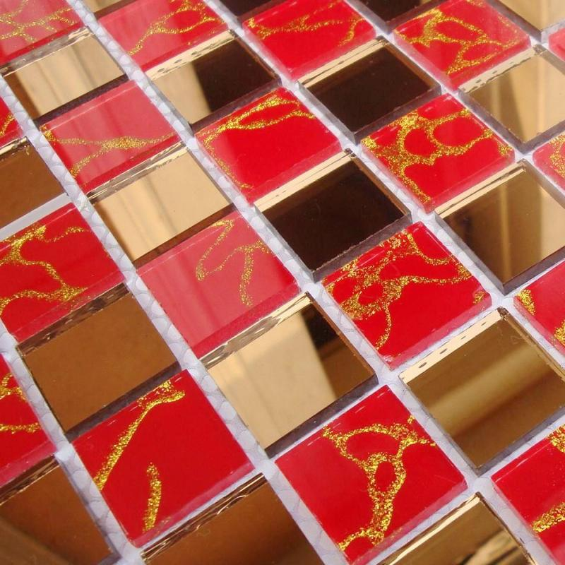 glass mosaic mirror tile backsplash MOSA13-3
