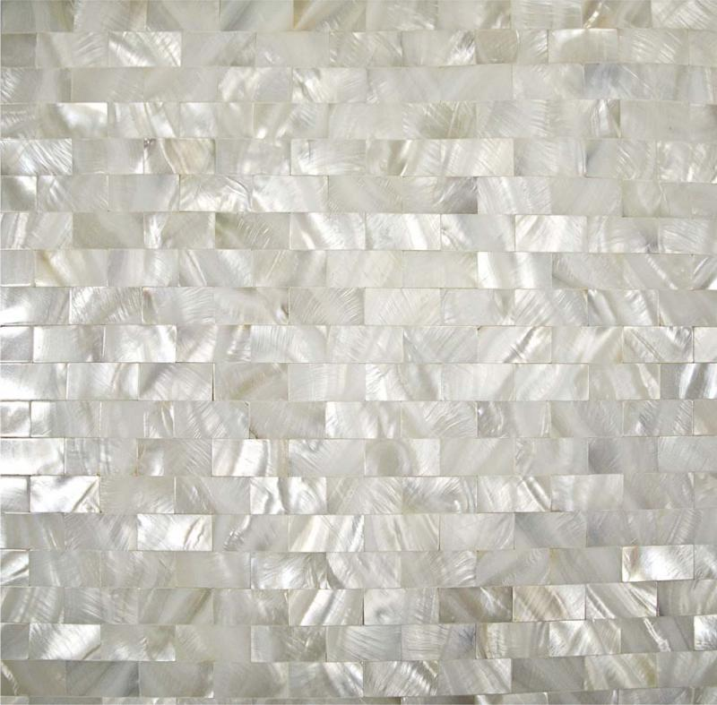 Mother of pearl tile backsplash kitchen seamless shell for Swarovski fliesen