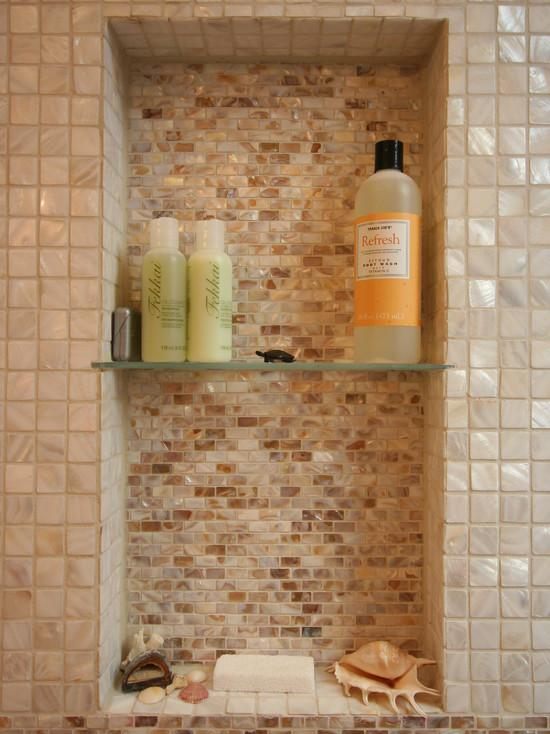 Shell Mosaic Bathroom Wall Tiles SW00201 S4