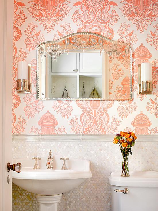 mother of pearl shell bathroom wall stickers SN25001-S1