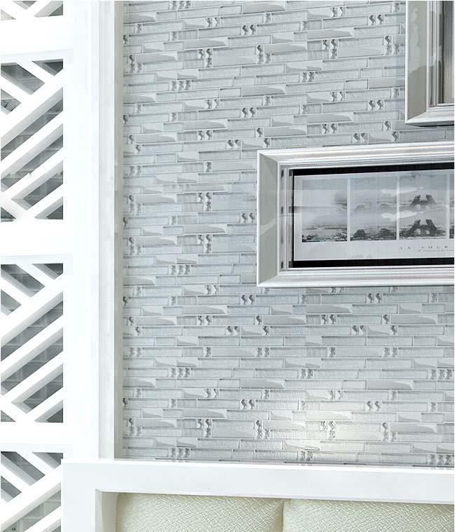 Glass Mosaic Tiles Interlocking Crystal Glass Diamonds Metal Coating Tile Backsplash Wall Tiles Tv Backdrop Wall