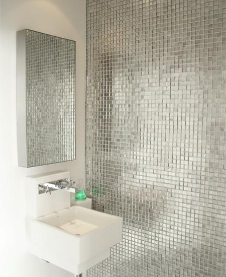 Metal Wall Tiles Bathroom Mirror Tile 9101 S1