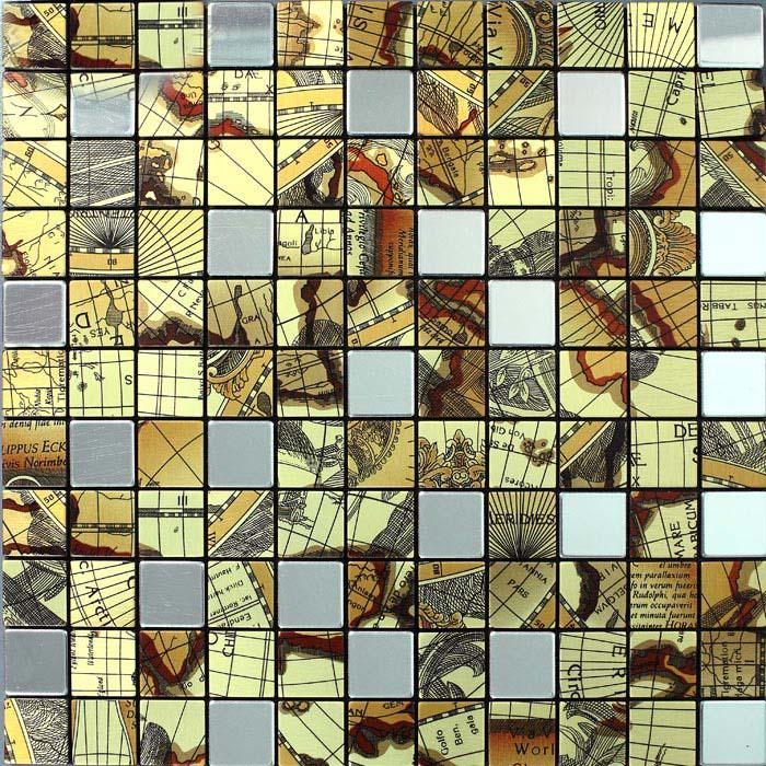 Brushed metallic mosaic tiles stainless steel kitchen backsplash 9104 - Decorative wall tiles for bathroom ...