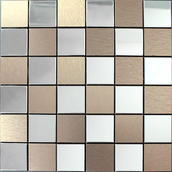 stainless steel metal tile mosaic backsplash 9105-2