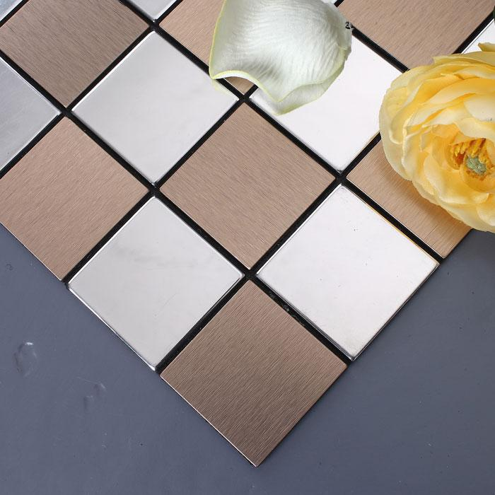 stainless steel mosaic tiles 9105-3