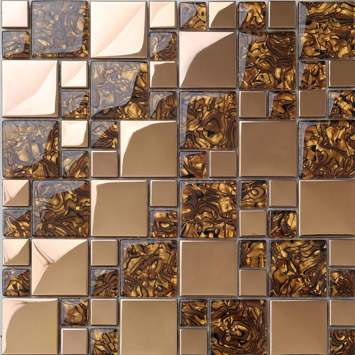 crystal glass tile blend stainless steel 1941-2