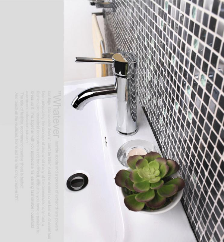 metal glass tile wall backsplash KS66B-S1