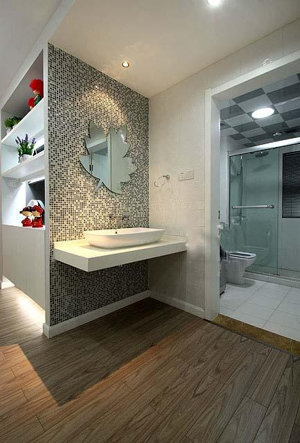glass mosaic tiles mirror wall stickers KS66B-S4