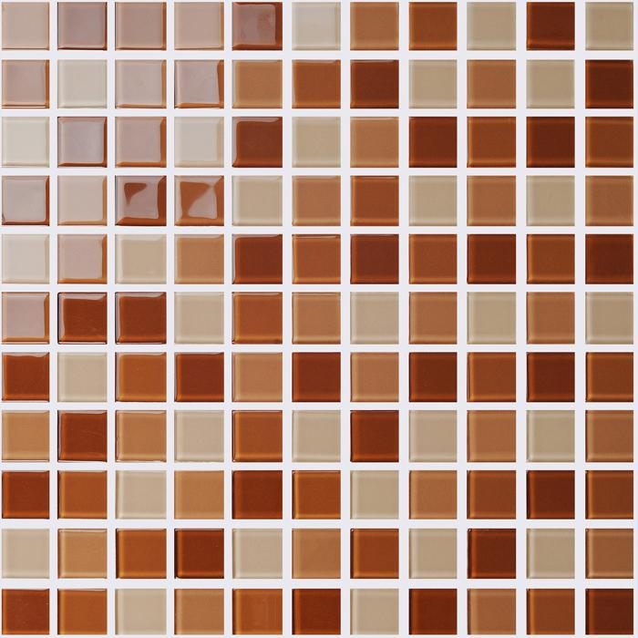 brown glass mosaic tile kitchen backsplash wall tiles