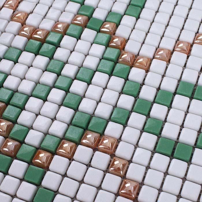 glass mosaic tile patterns green crystal glass tile backsplash GH33