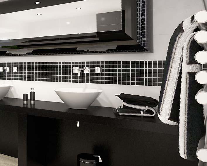 black porcelain tiles HB-660-S5
