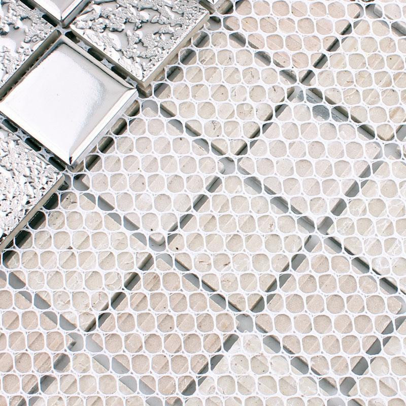 silver porcelain mosaic tiles HD-063-3
