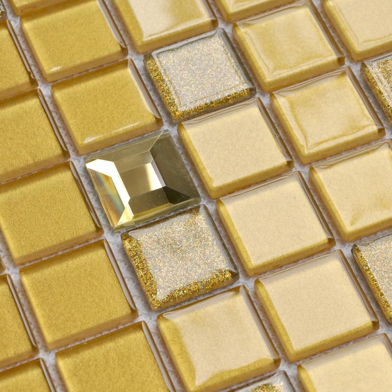 Square Crystal Glass Mosaice Tiles SFM003 1