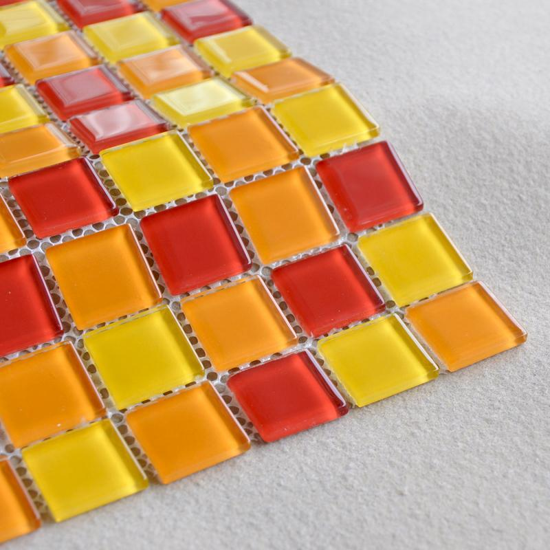 details of the glass mosaice tiles AH303-3