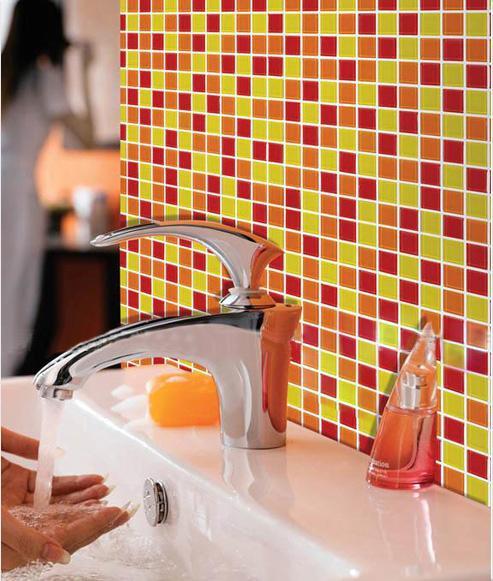 Crystal Mosaic Tiles Of Washroom Wall Stickers AH303 S1