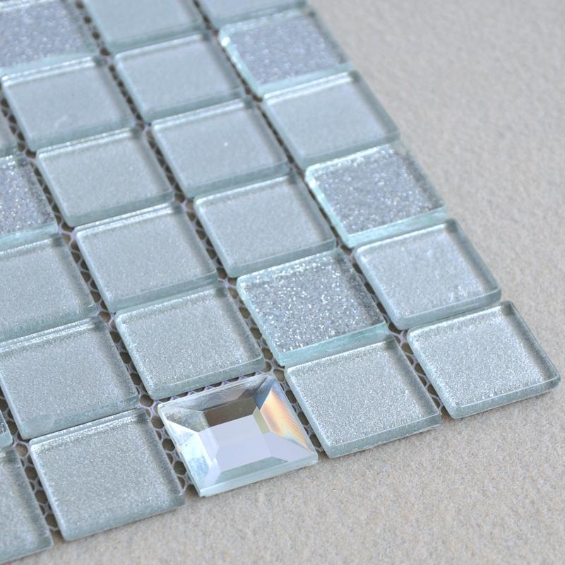 Glass Mosaic Tiles Kitchen Backsplash Tile Bathroom Wall Sticker 10100