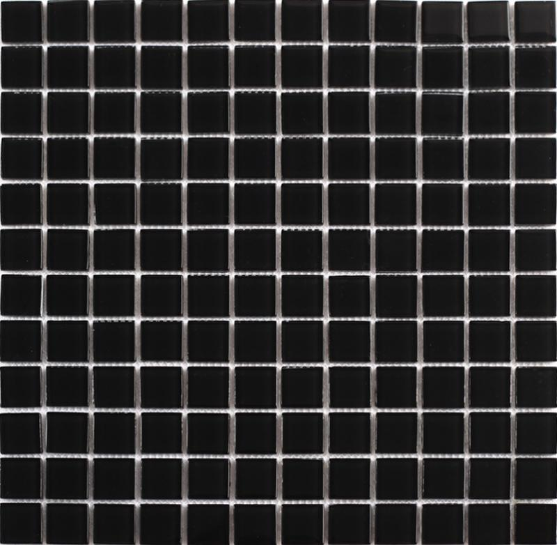 black glass mosaic tiles