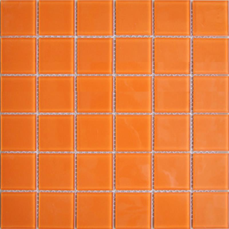 orange crystal mosaic tile