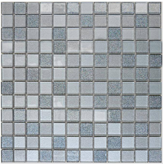Crystal Glass Mosaic Tiles Grey Crystal Glass Tile Backsplash Swimming Pool  ...