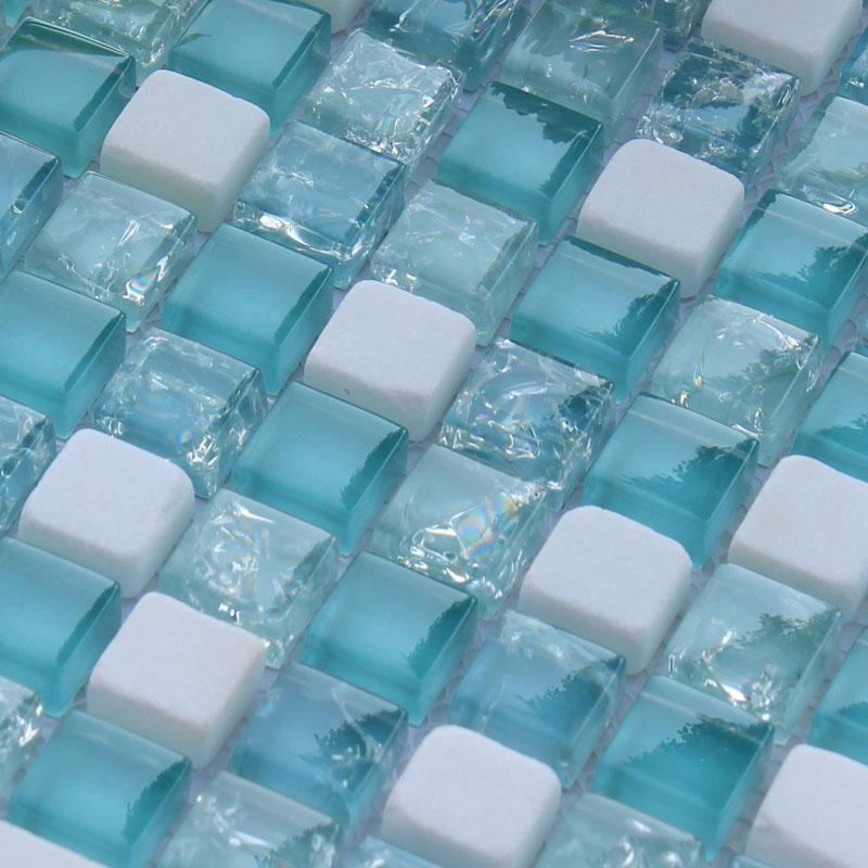 blue crystal glass mosaic tiles STBL001-3
