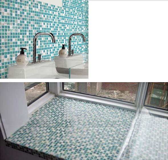 crackle glass mosaic tile backsplash blue mosaic stone tiles stbl001
